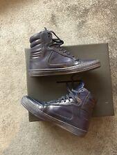 Zapatillas para hombre diesel, Oro Negro, Para Hombre De Cuero High Top, Azul, Tamaño-UK8