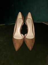 Tan Suede Court Shoes Size 5