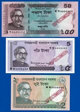 TODAY ISSUED SPECIMEN NOTES BANGLADESH- 50, 5, 2 TAKA-UNC-