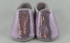 """Sparkling Pink"" Soft Leather Baby Shoes."