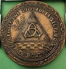 medaille franc maçonnerie Bordeaux DIAMETRE 81 mm franc macon MEDAL