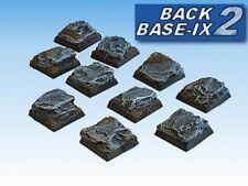 20mm Resin Scenic Bases (10) Square Slate Warhammer
