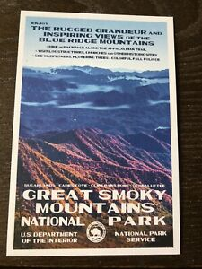 Great Smoky Mountains National Park WPA Style Postcard