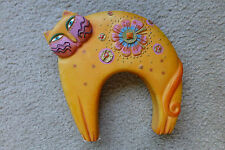 Laurel Burch rare cat flowering feline statue figurine resin small