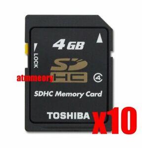 10x Toshiba 4GB SD SDHC Class 4 Memory Card Bulk Package Lot of 10pcs