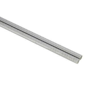 1 Paar (2 Stück) Support Rod Kohlefaser Carbon 15mm Rohr Clamp silber silver