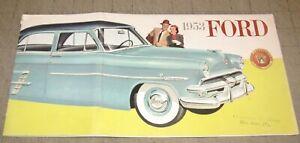 1953 FORD Dealer Color Sales Brochure - All Sedan Models, Great Illustration Art