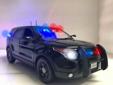 Undercover TROOPER Unmarked Police Ford FBI NYPD SUV 1/18 WORKING Lights & SIREN