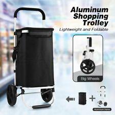 Foldable Shopping Cart Trolley Aluminium Waterproof Grocery Storage Bag Basket