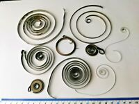Job Lot of Vintage Main Springs, Mainly for Clocks, For  Repairs / Spares (73)