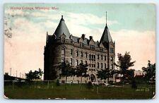 Postcard Canada 1912 Winnipeg Wesley College Vtg View D8