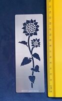 Stainless/Steel/stencil/Oblong/Sunflower/Flower/Floral/Emboss/Medium/Pyrography
