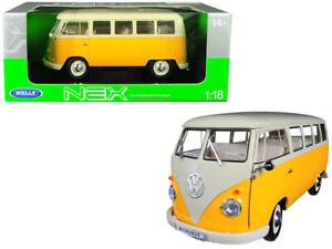 Welly 1:24 NEX 1963 Volkswagen T1 Bus DieCast Model (Yellow)