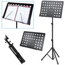 1 Pack Folding Sheet Music Stand Score Note Holder Mount Tripod portable