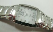 Seiko Vivace SUJ287 Stainless Steel 1N00-0DS8 w/ Gems Sample Watch NON-WORKING