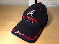 Atlanta Braves Baseball Hat Adjustable Cap Navy Red White MLB One Size Fits All