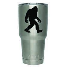 2-Pack Bigfoot Sasquatch Walking Yeti Decal   3 Inches   Premium Black Vinyl