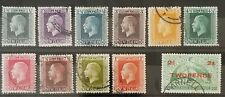 New Zealand KGV 1915-16 Defins Used Group (20)