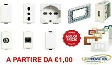 BTICINO MATIX COMPATIBILE PRESA SCHUKO TV PULSANTE DEVIATORE USB FRUTTI