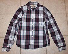 EUC Hollister Mens Boys Medium Button Front Long Sleeve Shirt