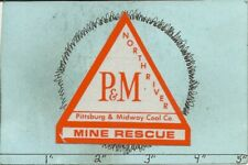 """Pittsburg & Midway Coal Co -Hard Hat-Coal Mining Sticker-Decal """"Old"""""""