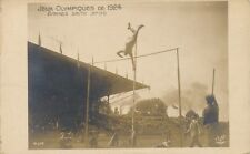 1924 Olympics Lee Stratford Barnes Pole Vault Winner Real Photo Postcard rppc