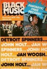 Detroit Spinners & John Holt Black Music Mag November 1976   Tavares  Jah Woosh