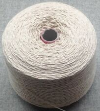 Huge 1.8 kg 3 PLY Natural Undyed 100% Cotton Dishcloth Yarn.Weaving/knitting