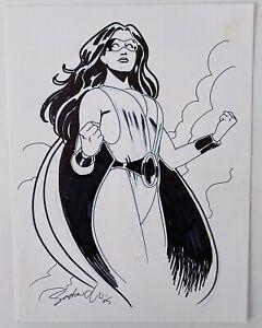 Phantom Lady Sketch! Original Art by Stephen Sadowski 2005
