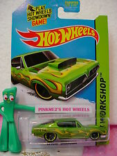 Case B/D 2015 Hot Wheels '68 HEMI BARRACUDA #213∞Micro Green Cuda∞∞Performance