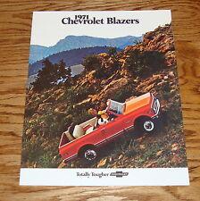 1971 Chevrolet Blazer Sales Brochure 71 Chevy Truck 4x4