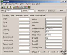Simple General Purpose Cook Home Professional Chef Recipe Tracking Software CD