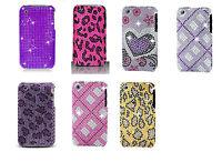Full Bling Diamond Faceplate Hard Cover Case for Apple iPhone 3G 3GS Phone