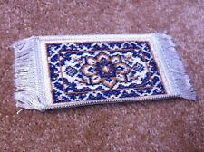 Quality Wool Rug 7, Dolls House Miniature, Home Decor, 1.12 Scale Mat