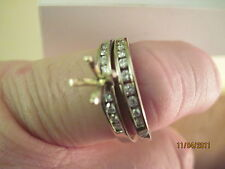 18K White Gold - Matching Wedding and Engagement Rings