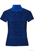 ** Issa ** Bright Blue Blaire Printed Jacquard-knit Turtleneck ** Medium **