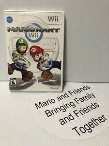 Wii Nintendo Game - Mario Kart Wii For Wii /Wii U -Tested Working- Free Shipping