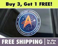 Star Trek Starfleet Command Logo Circle Cut Vinyl Autocollant Pare-Choc Startrek