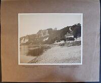Fotografie Rathen mit Bastei Sächsische Schweiz 1908 Foto Sachsen Elbe xz