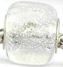 Ice Cube Winter glass european charm bead Mandy Ramsdell .925 silver lampwork