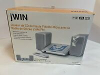 NIB jWIN Micro Hi-Fi CD Player with AM/FM Stereo Radio JX-CD7160