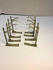 Marklin HO Scale HO # 7009 Lot of 8 Single Mast Catenary Poles with Track Clips