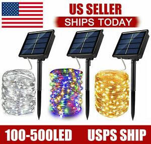 100-400 LED Solar Power String Fairy Lights Garden Outdoor Party Christmas Lamp