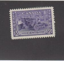 CANADA (MK5253) # 261  VF-MNH  50cts  1942 MUNITIONS FACTORY /VIOLET CAT VAL $75