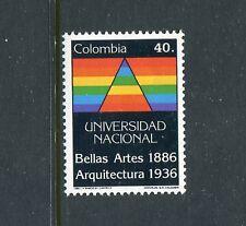 Colombia 957, MNH, Fine Art Centenary & Architecture 1986. x23387