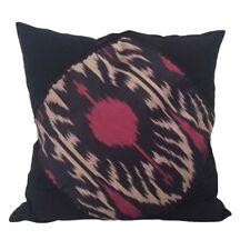 """Ikat Applique Linen & Cotton 18x18"""" Decorative/Throw Pillow Case / Cushion Cover"""