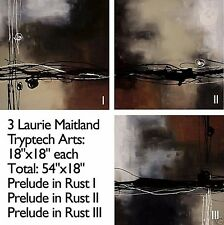 PRELUDE IN RUST I (18x18), II (18x18) and III (18x18) LAURIE MAITLAND 3PC CANVAS