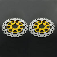 2PCS Front Floating Brake Disc Rotor For Suzuki GSXR600 750 04-05 GSXR1000 03-04