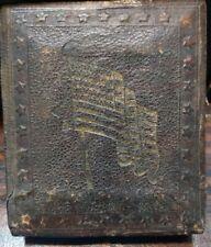 1/9 Plate Tintype Of Antebellum Lady in Civil War Patriotic Case US Flag & Stars