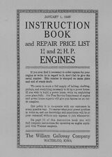 Galloway 1¾ and 2¼ H.P. Instruction Book and Parts List